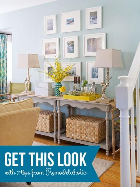 Get This Look - Doubled Up Console Table Buffet - Remodelaholic