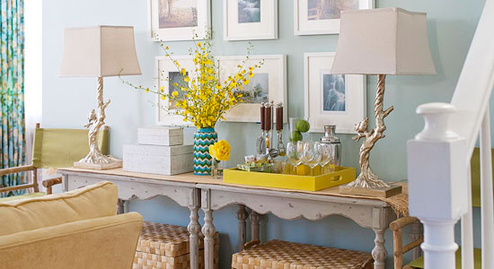 Get This Look: Doubled Up Console Tables