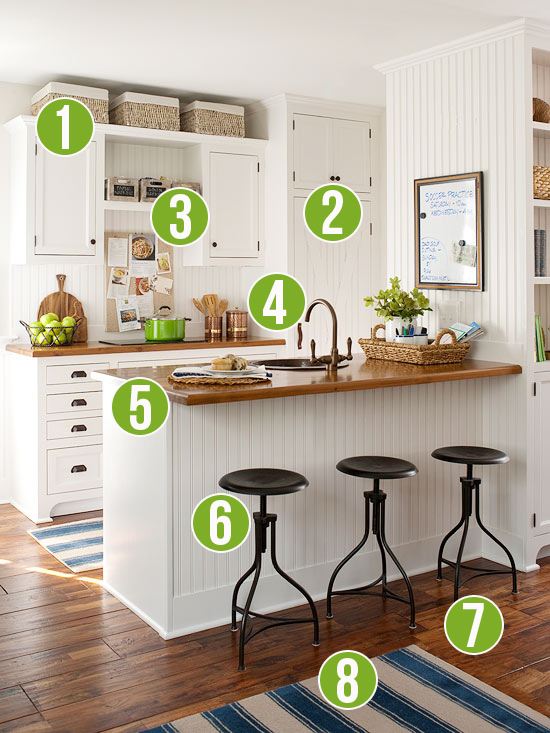 Get This Look Warm Wood Tones In A White Kitchen 8 Tips From Remodelaholic