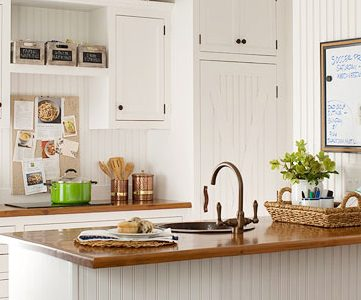 Get This Look: Warm Wood Tones In A White Kitchen