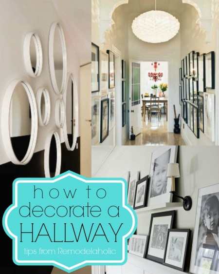 How To Decorate A Hallway via Remodelaholic