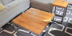 How to build a DIY modern coffee table and end table, Home Coming featured on Remodelaholic