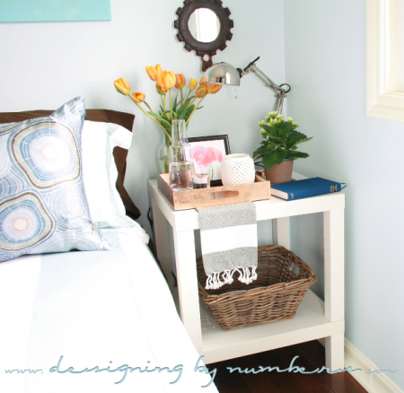 IKEA Lack end table hack, Designing by Numbers featured on Remodelaholic