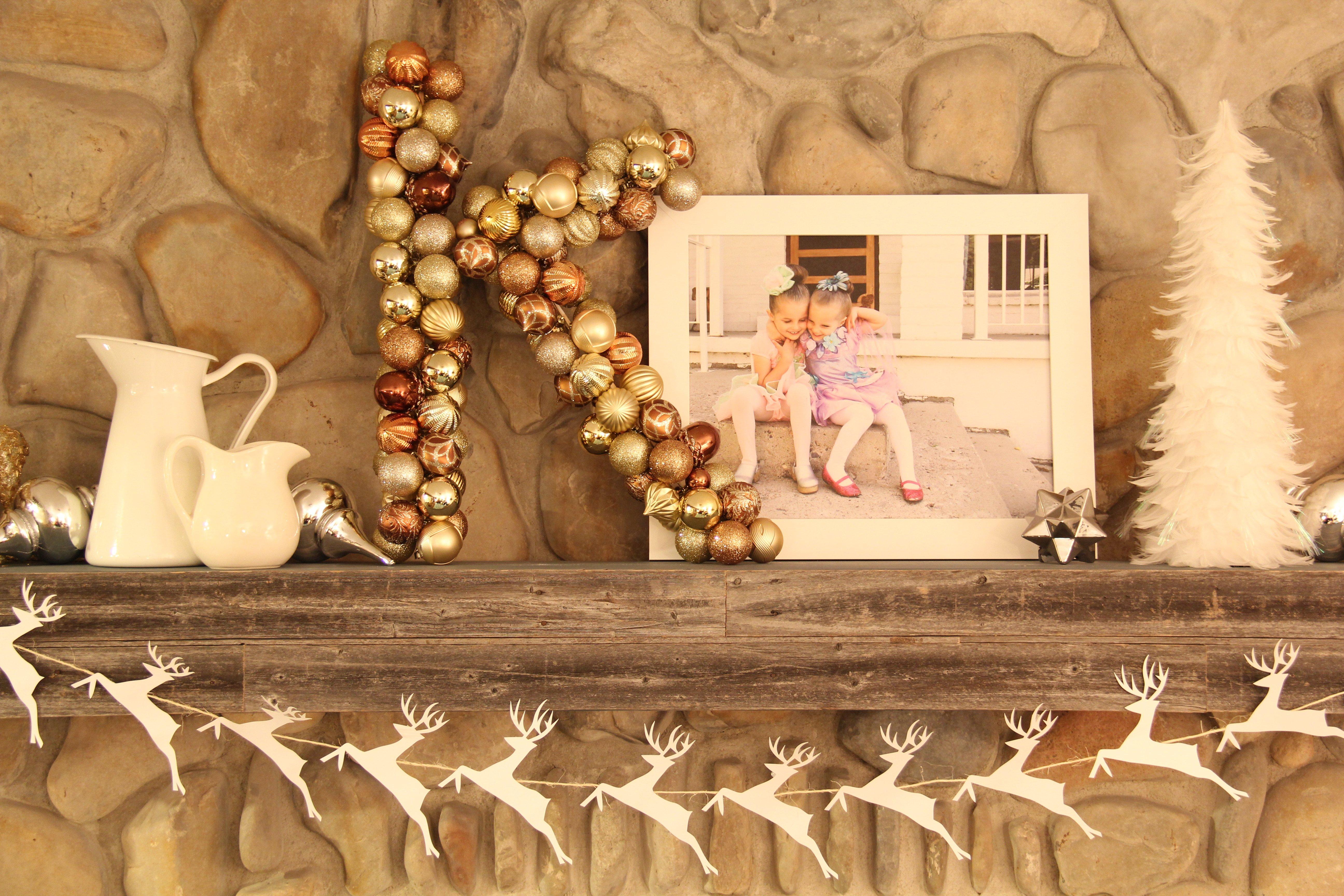 Ornament Monogram Wreath Tutorial