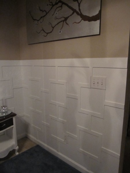 Square Lattice Wainscoting, This Home Of Ours featured on Remodelaholic.com