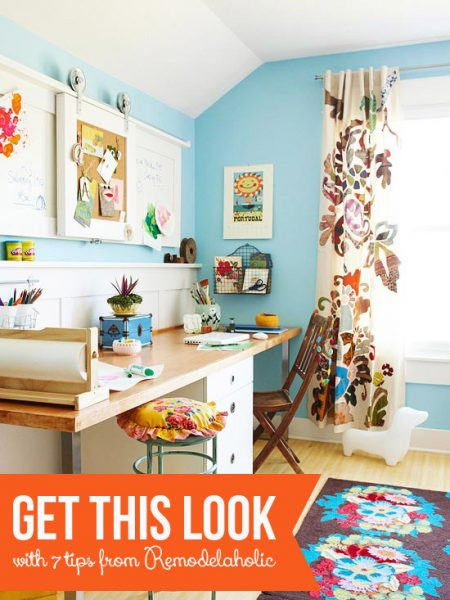 Tips to Get This Look - Colorful Shared Home Office and Homework Station