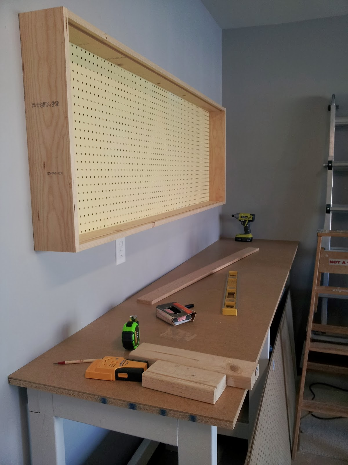 Remodelaholic Build An Organized Pegboard Tool Cabinet