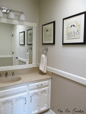 New  bathroom makeover after The Pin Junkie featured on Remodelaholic