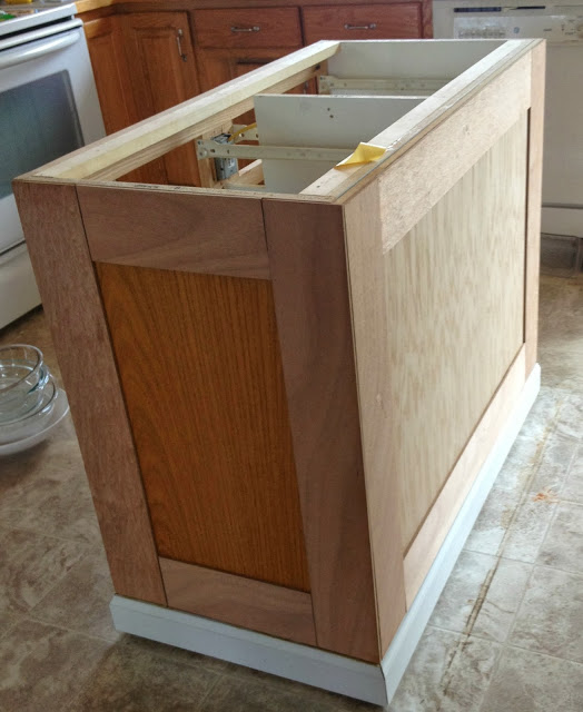 Great Board And Batten On A Kitchen Island Makeover, Featured On Remodelaholic