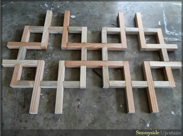 how to build wood lattice
