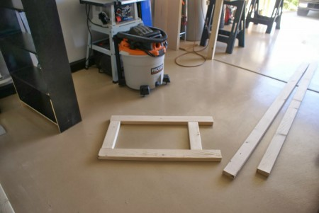 building workbench legs, featured on Remodelaholic.com