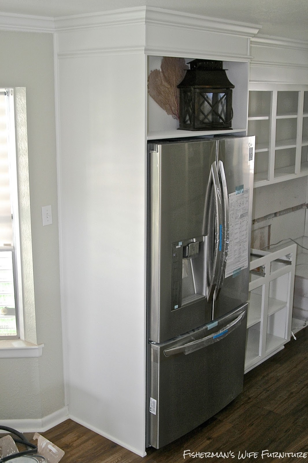 Kitchen Cabinet With Built In Fridge
