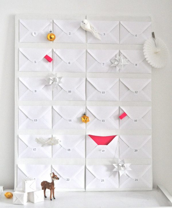 envelope advent calendar, Few Things From My Life via Remodelaholic