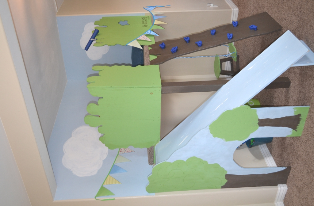 Remodelaholic Build An Indoor Tree House With Slide And