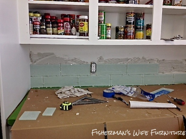 installing glass subway tile backsplash fisherman 39 s wife furniture how