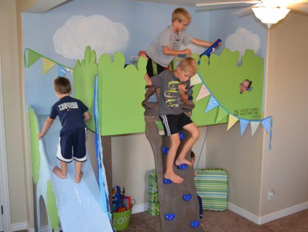 kids indoor tree house loft playhouse, I Am Hardware featured on Remodelaholic