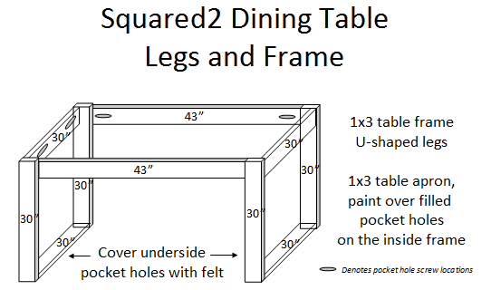 Diy Square Dining Table Plans