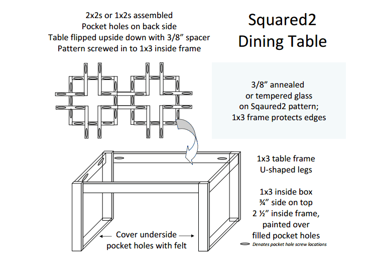 Modern Square Motif Dining Table Building Plans Sunnyside Upstairs Featured On Remodelaholic