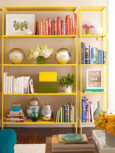 open shelf library via Remodelaholic.com