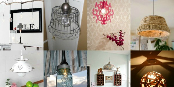 Remodelaholic 14 great diy pendant lights and link party aloadofball Image collections