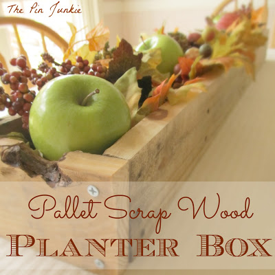 planter box from scrap wood, The Pin Junkie featured on Remodelaholic.com