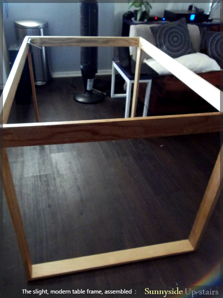 Pocket Holes And S To Attach Table Legs Sunnyside Upstairs Featured On Remodelaholic