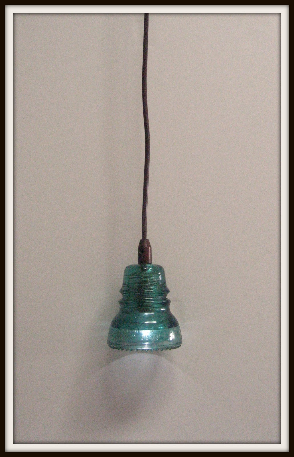 glass insulator pendant light diy