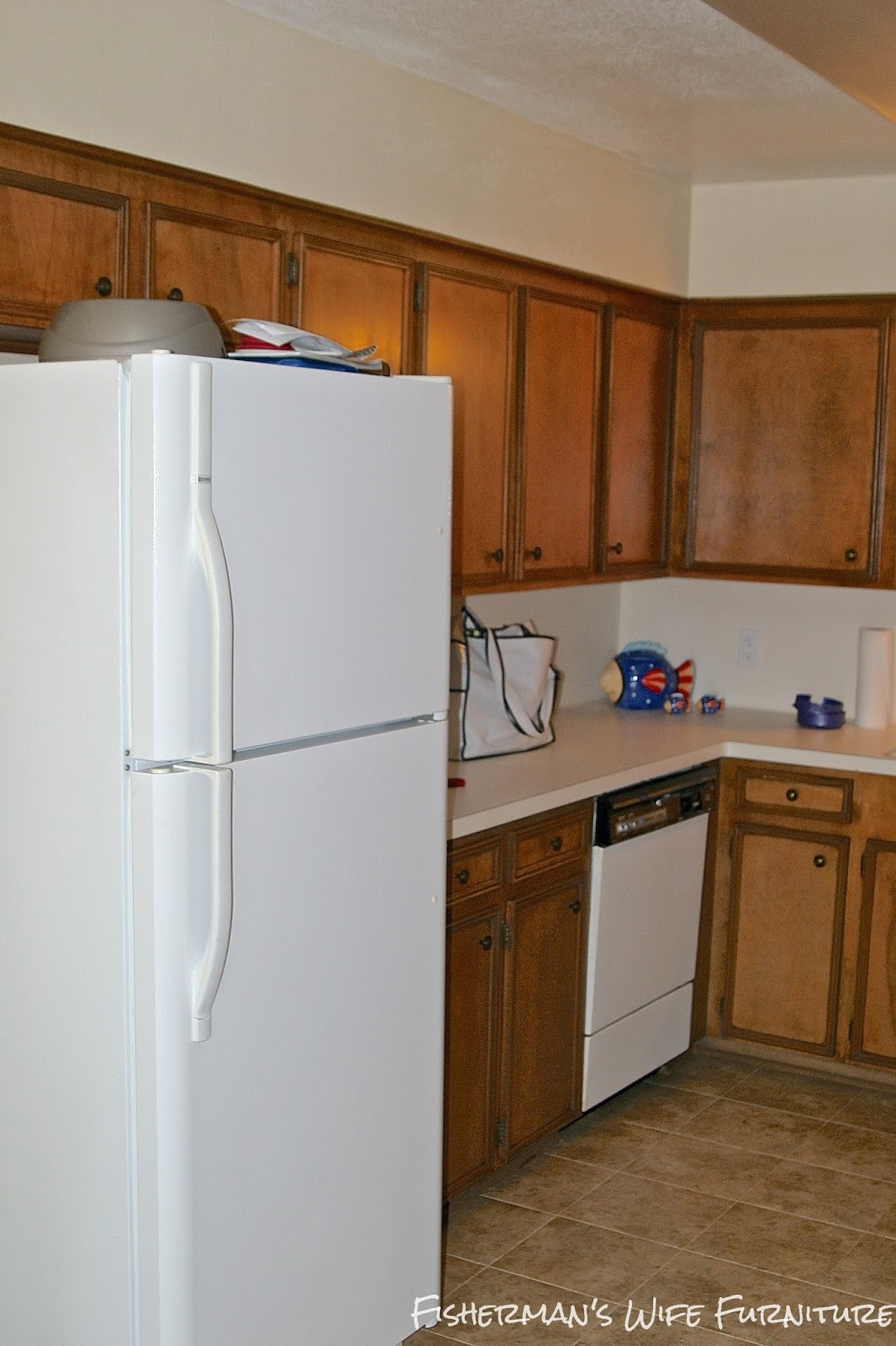 dark cabinets small white kitchen makeover with built in fridge 14428