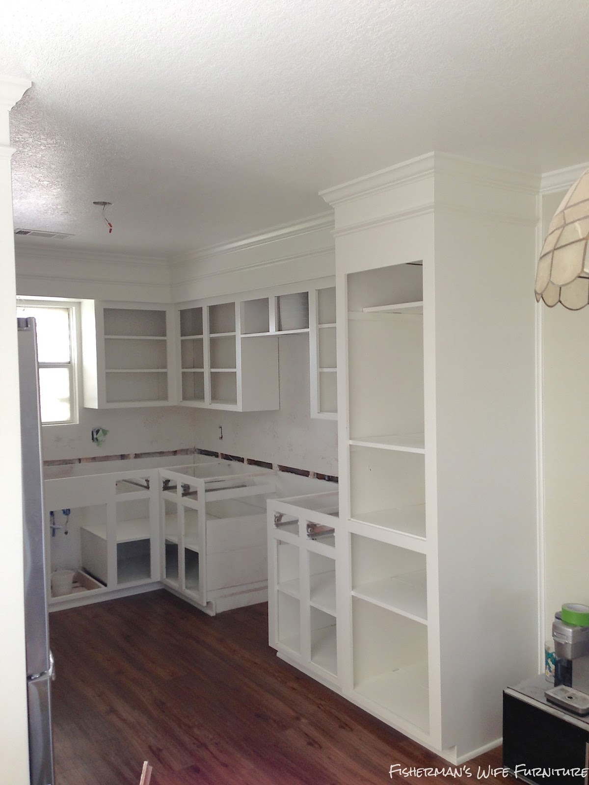 Remodelaholic Small White Kitchen Makeover With Built In