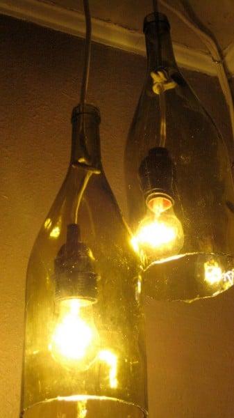 wine bottle pendant light diy tutorial, Adventures in Creating featured on Remodelaholic