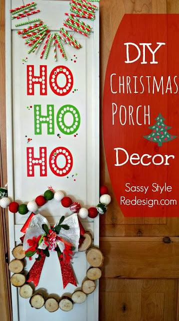 12-20 diy Christmas porch decor, Sassy Style Redesign