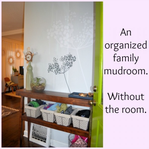 12-6 organized mudroom without the room, Designing Around