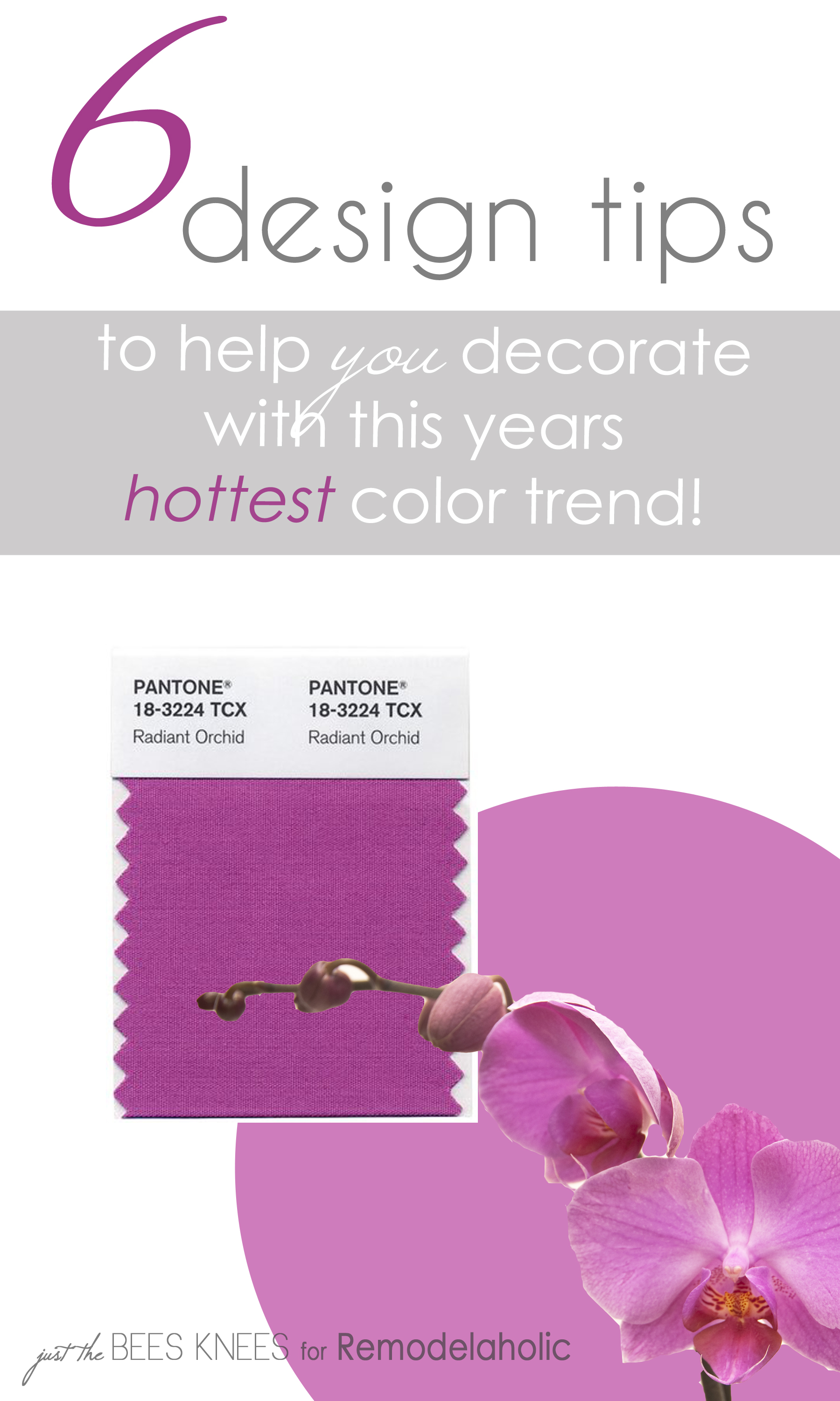 Remodelaholic | 6 Tips for Decorating with Radiant Orchid ...