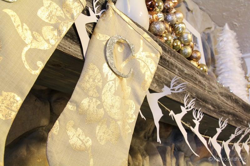 Easy Homemade Christmas Stockings; Day 8