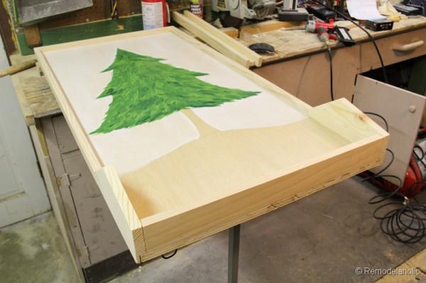Chrsitmas Tree advent calendar with hooks-12