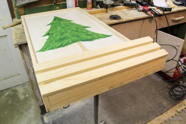 Chrsitmas Tree advent calendar with hooks-15