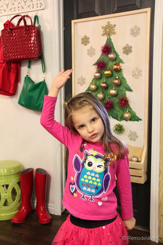 Chrsitmas Tree advent calendar with hooks-27