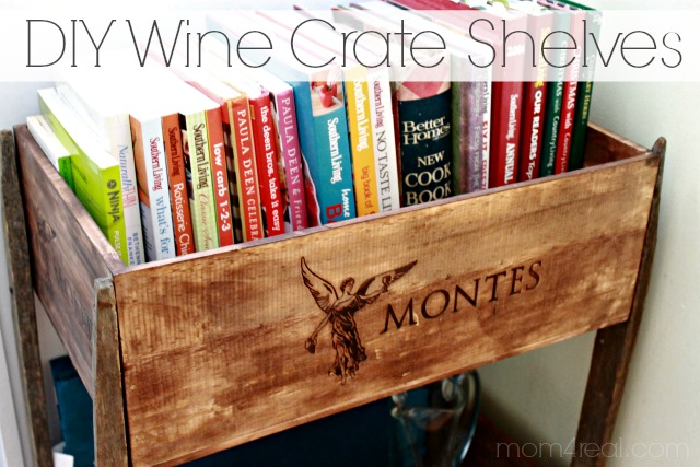 Wooden crate shelf diy diy woodworking projects for Diy wine crates