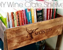 DIY Wine Crate Shelves featured on Remodelaholic