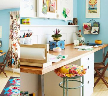 Get This Look: Shared Home Office and Homework Station