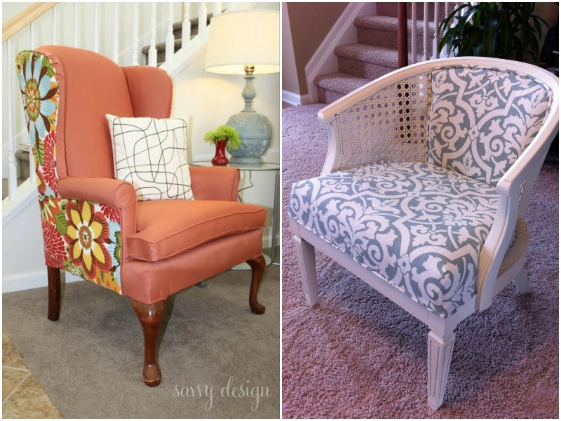 transforming a vintage french chair, painted furniture, reupholster.  Tutorials: - Reupholster Antique Chair - Design Decoration