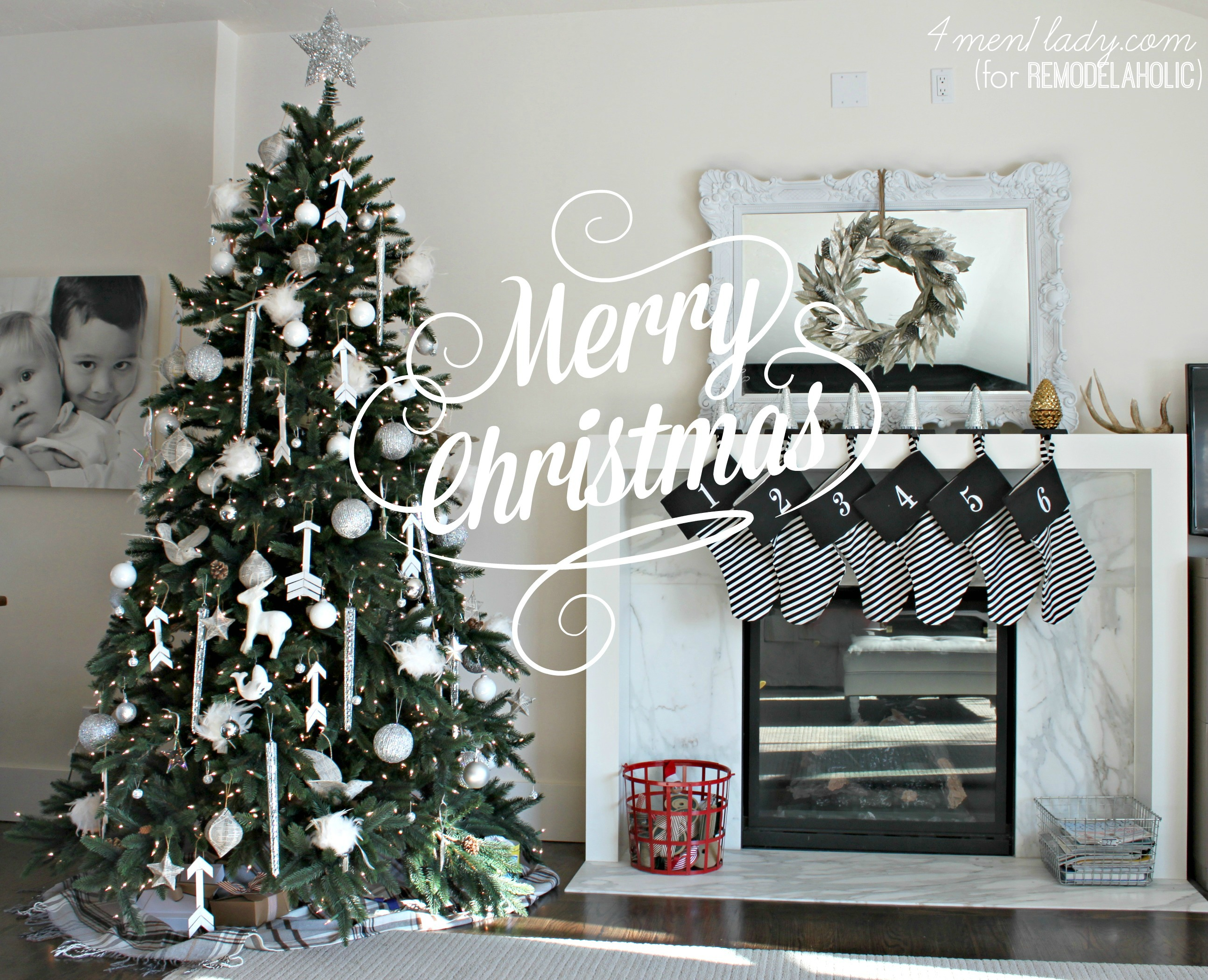 classic white Christmas | 4men1lady for Remodelaholic.com