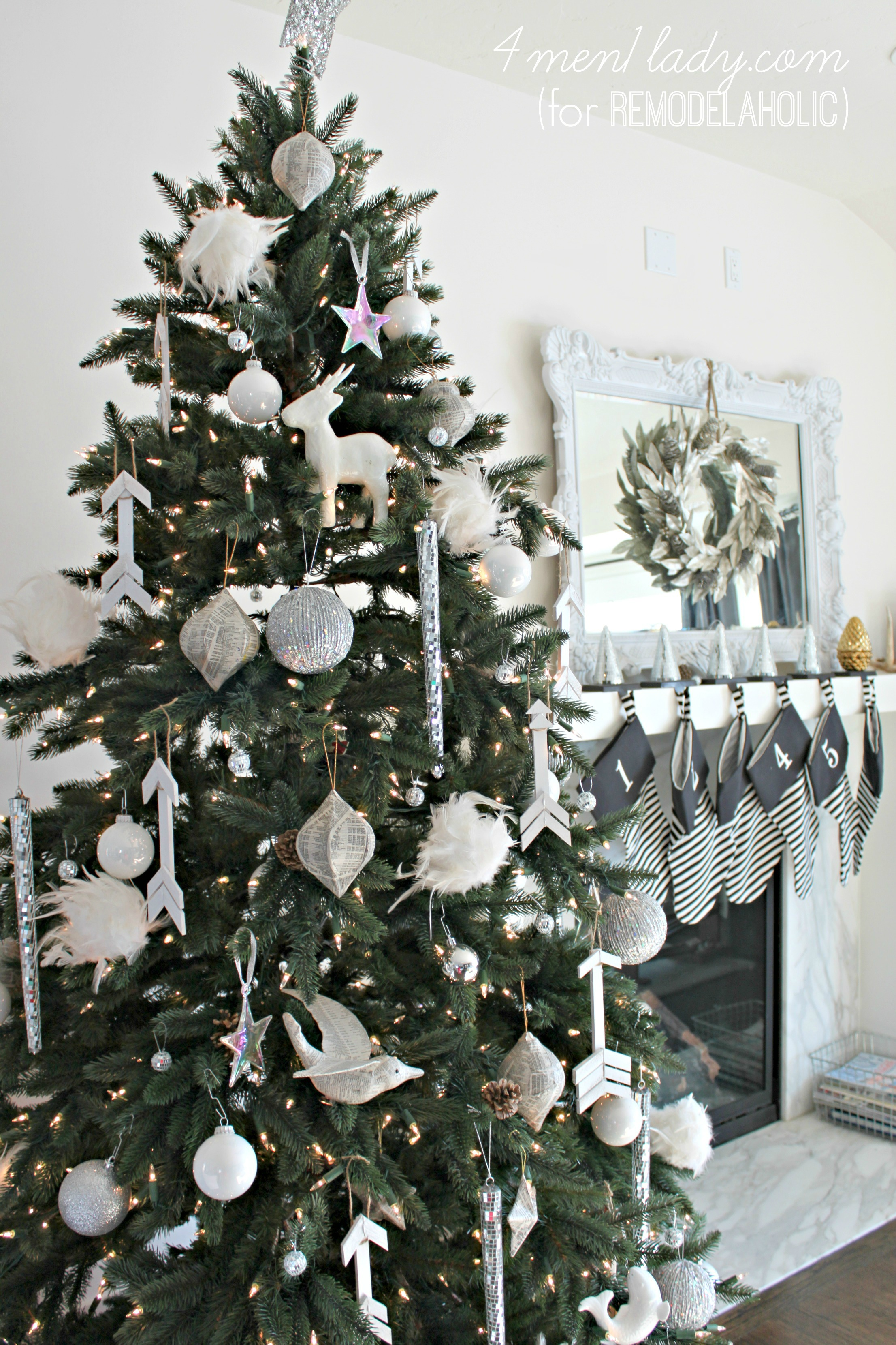 all white christmas ornaments