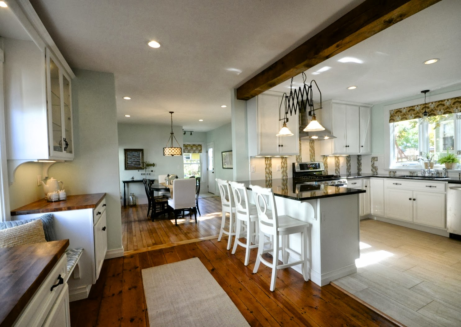 kitchen and dining room farmhouse create an open kitchen and dining area sopo cottage featured on remodelaholiccom remodelaholic creating room