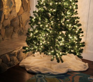 Faux Fur Tree Skirt; Day 9