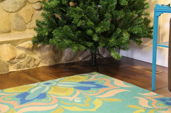 No sew faux fur Christmas tree skirt