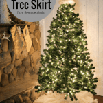 No Sew Faux Fur Christmas Tree Skirt Remodelaholic