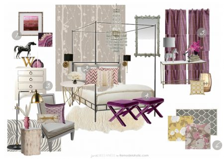 6 Tips on decorating with Radiant Orchid from Remodelaholic.com