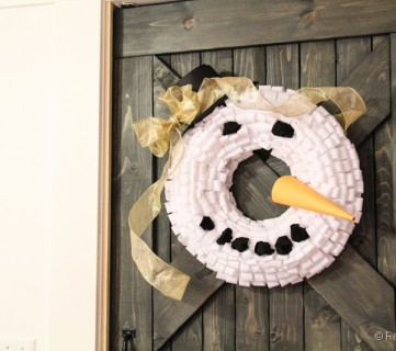 Snowman Wreath Tutorial; Day 6
