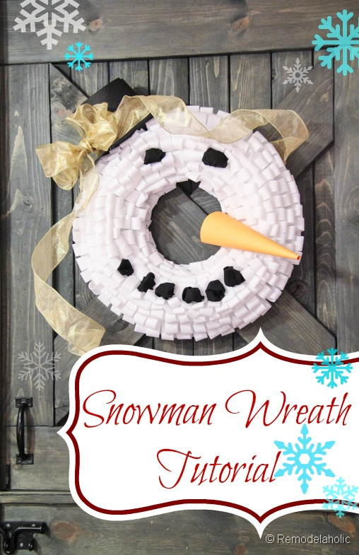 Snowman Winter Wreath Tutorial-remodelaholic